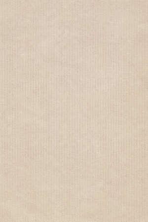 kraft: Photograph of recycle, striped kraft Pale Beige paper, coarse grain grunge texture