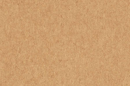 Photograph of recycle Light Vivid Brown kraft paper, extra coarse grain, grunge texture sample Stock Photo