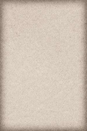Photograph of recycle watercolor paper, coarse grain, Beige, vignette, grunge texture sample photo