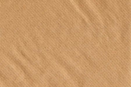 Foto van oude Recycle, Striped Kraft Brown Paper, grove korrel, verfrommeld, grunge textuur monster Stockfoto