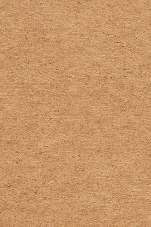 Photograph of recycle brown striped, corrugated, coarse grain, cardboard torn grunge texture sample
