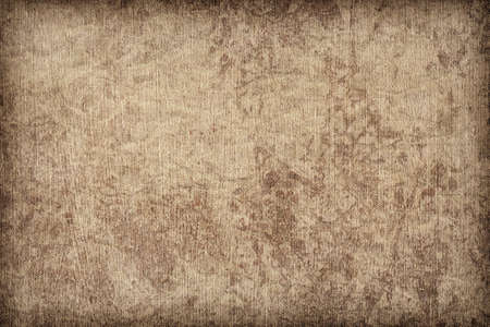 Photograph of primed artist s Linen duck coarse grain canvas, roughly treated, mottled, stained, vignette grunge texture sample photo
