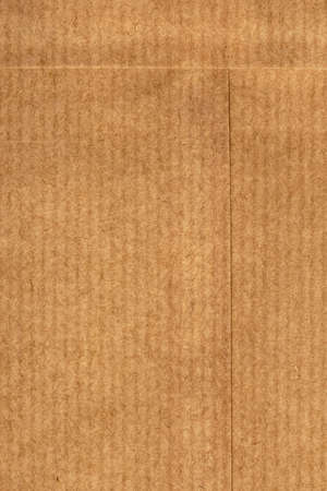 Photograph of unfolded Coin Envelope, made of coarse grain striped Brown recycle paper photo