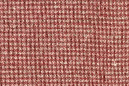 acrylic fiber: Photograph of English Red Acrylic-Polyethylene upholstery and drapery fabric, with woven decorative mesh pattern ? detail.