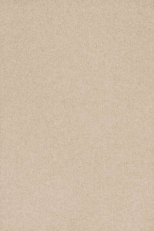 Photograph of light Beige recycle striped paper, extra coarse grain, grunge texture sample. photo