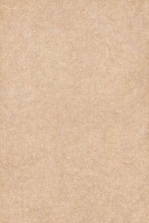 Foto van licht beige recycle gestreepte papier, extra grove korrel, grunge textuur monster.