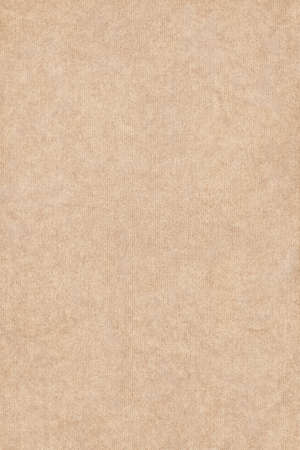 Photograph of light Beige recycle striped paper, extra coarse grain, grunge texture sample.