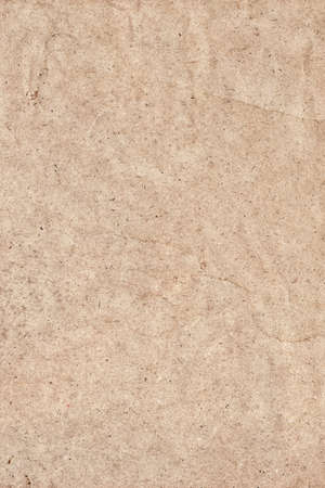 Photograph of Beige recycle paper, extra coarse grain, mottled grunge texture sample.