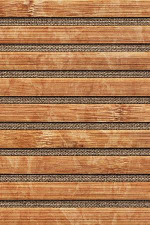 Decorative Bamboo Place Mat Grunge Texture On Linen Canvas Background Detail