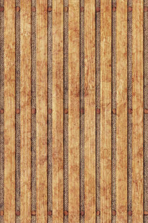 treated board: Bamboo Place Mat Grunge Texture On Linen Canvas Detail