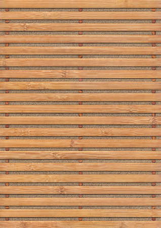 treated board: Bamboo Place Mat Grunge Texture On Linen Canvas Stock Photo