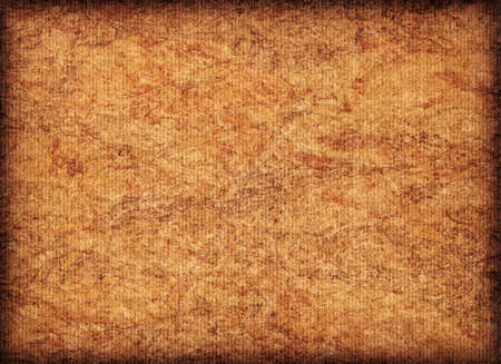 blotted: Scanned image of Corrugated Striped, Recycle Cardboard, rough, coarse grain, bleached, mottled, vignette grunge texture sample.