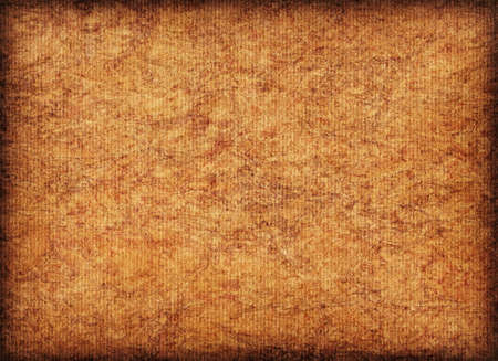 impurities: Scanned image of Corrugated Striped, Recycle Cardboard, rough, coarse grain, bleached, mottled, vignette grunge texture sample.