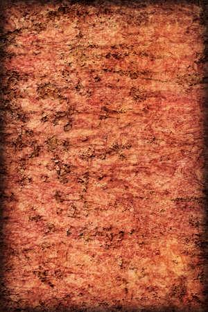 decomposed: Viejo, desechado, muy corro�dos superficie flotante choza de metal balsa r�o, cubierto con capas agrietadas descompuestos de pintura y �xido vi�eta textura.
