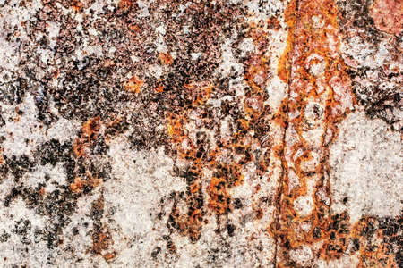 entropy: Old, scrapped, badly corroded river raft hut floater riveted metal surface, covered with cracked decomposed layers of tar, paint and rust. Shutter: Abstract  Objects Stock Photo