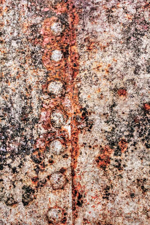 entropy: decomposed layers of tar, paint and rust.