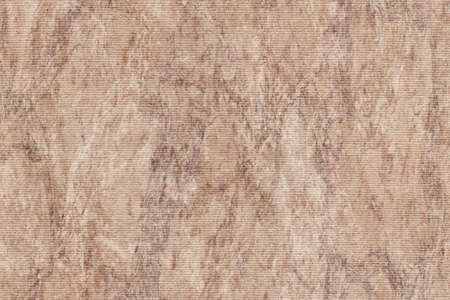 impurities: Photograph of Recycle Light Brown Striped Pastel Paper, coarse grain, bleached, mottled grunge texture sample.