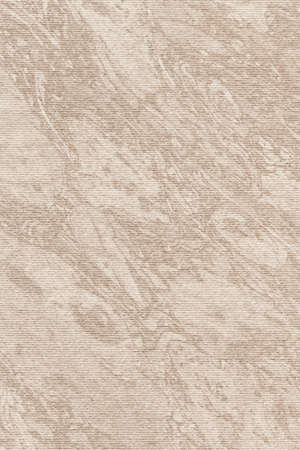 mottled: Photograph of Recycle Grayish Beige Striped Pastel Paper, coarse grain, bleached, mottled grunge texture sample.