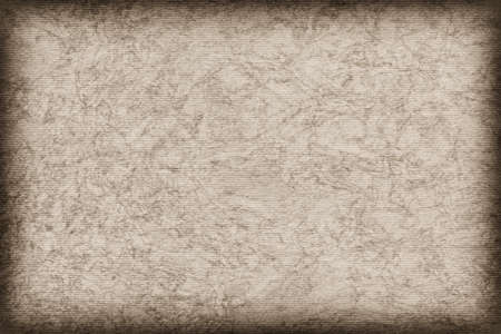 blotted: Photograph of Recycle Grayish Beige Striped Pastel Paper, coarse grain, bleached, mottled grunge texture sample.