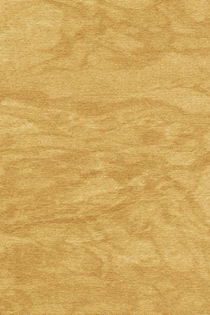 blotted: Photograph of Recycle Yellow Striped Pastel Paper, coarse grain, bleached, mottled grunge texture sample. Stock Photo