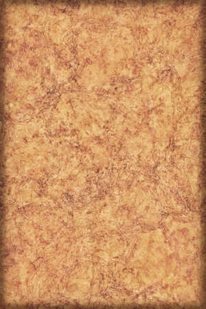 Cork tile, with abstract decorative line and mesh surface pattern, vivid yellowish Amber color, vignette grunge texture. photo