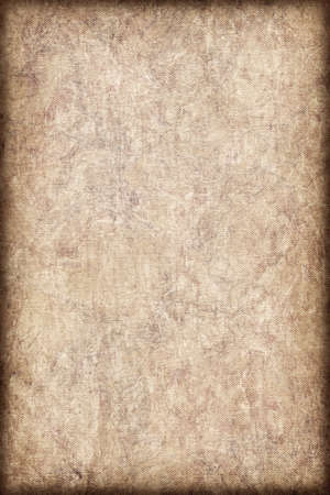 Photograph of coarse grain, Acrylic Primed, Artist Cotton Duck Canvas, bleached, mottled vignette grunge texture. photo