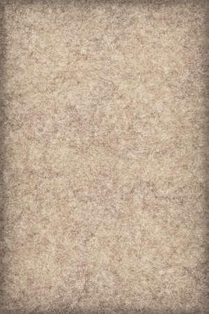 mottled: Photograph of Recycle Ocher Striped Pastel Paper, coarse grain, bleached, mottled, vignette grunge texture sample.