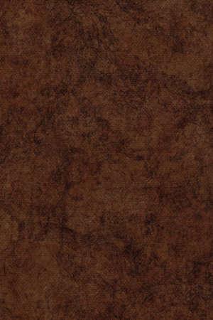 umber: Photograph of Recycle Dark Burnt Umber Pastel Paper, coarse grain, bleached, mottled, grunge texture sample.