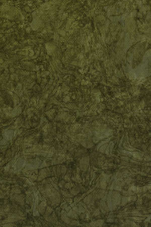 olive green: Photograph of Recycle Dark Olive Green Pastel Paper, coarse grain, bleached, mottled, grunge texture sample.