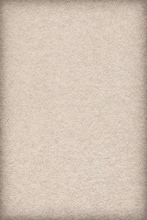 impurities: Photograph of Recycle Watercolor Paper, coarse grain, Beige, vignette, grunge texture sample.