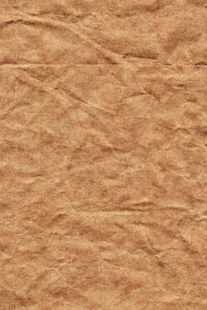 impurities: Photograph of old Recycle Kraft Brown Paper, coarse grain, crushed crumpled, grunge texture sample. Stock Photo