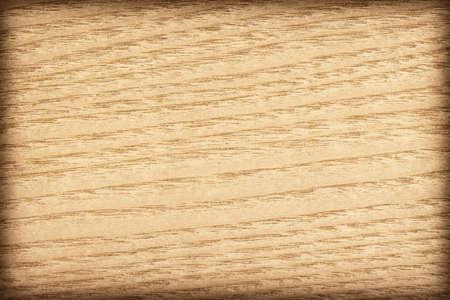 tiling background: Maple Wood Veneer Yellow Ocher vignette, grunge texture sample.
