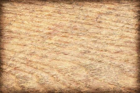 mottled: Maple Wood Veneer Yellow Ocher bleached, mottled, vignette, grunge texture sample. Stock Photo