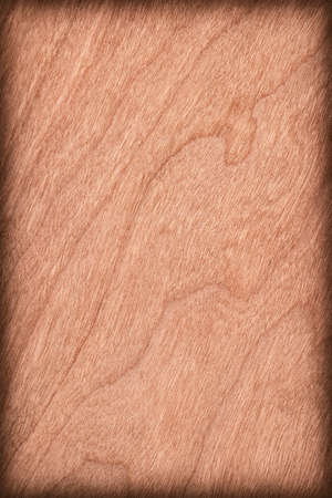 cherry hardwood: Natural Cherry Wood Brownish Red Veneer, vignette, grunge texture sample.