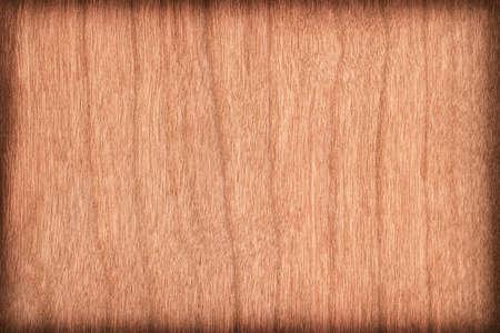 brownish: Natural Cherry Wood Brownish Red Veneer, vignette, grunge texture sample.