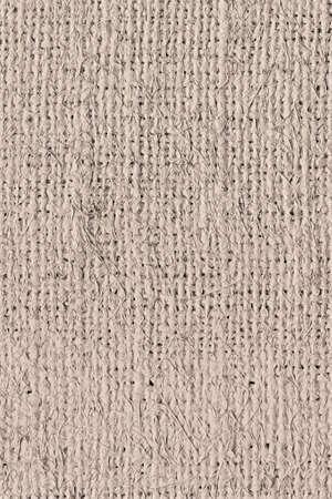unrefined: Artist Jute raw Canvas, unrefined, non caulked, unsealed, single Acrylic primed, extra coarse, grunge texture sample. Stock Photo