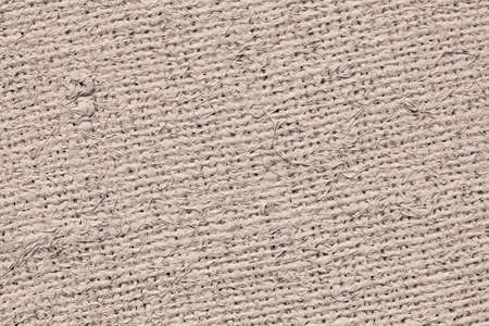 jute texture: Artist Jute raw Canvas, unrefined, non caulked, unsealed, single Acrylic primed, extra coarse, grunge texture sample. Stock Photo