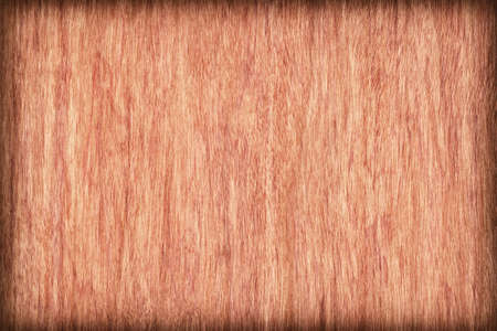 cherry hardwood: Natural Cherry Wood Brownish Red Veneer, bleached, stained, vignette, grunge texture sample.