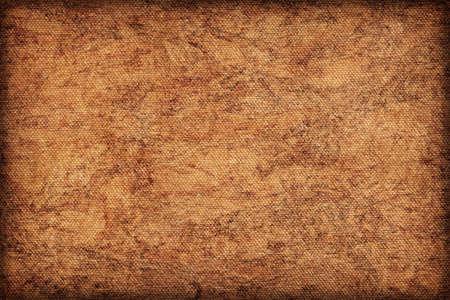 raw cotton: Artist Cotton raw Canvas, unrefined, unprimed, extra coarse, bleached, mottled, vignette grunge texture sample.