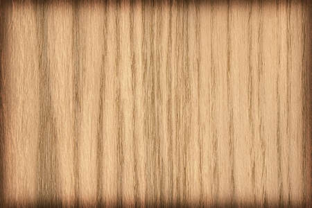 panelling: Natural Oak Wood, Ocher, vignette, grunge texture sample. Stock Photo