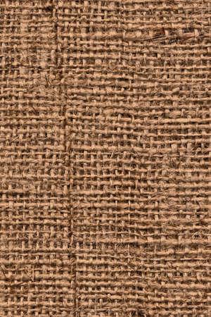 coarse: Photograph of raw, roughly woven, coarse grain, burlap grunge texture. Stock Photo