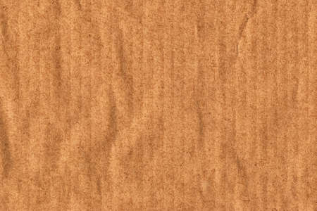 impurities: Recycle Striped Brown Kraft Paper, coarse grain, crushed, crumpled, grunge texture sample.