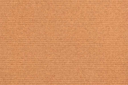 Recycle Striped Brown Kraft Paper, coarse grain, crushed, grunge texture sample.
