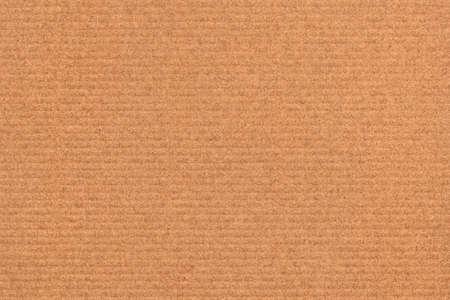 Recycle Striped Brown Kraft Paper, coarse grain, crushed, grunge texture sample.