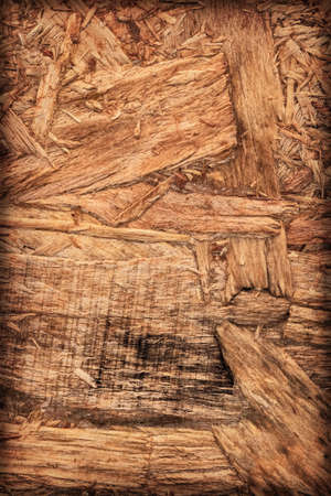 temporal: Wooden chipboard reverse side, rough, extra coarse, vignette surface texture detail.
