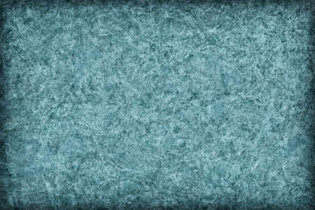 powder blue: Photograph of Recycle Striped Powder Blue Pastel Paper, bleached, mottled, coarse grain, vignette grunge texture sample. Stock Photo