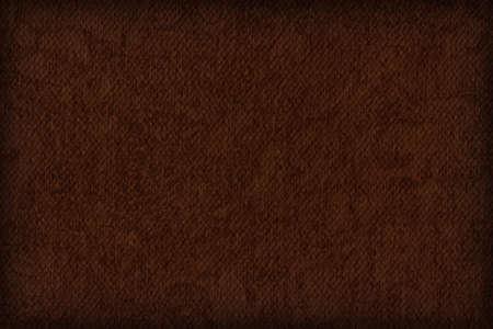 umber: Photograph of Artist Burnt Umber Primed Cotton Duck Canvas coarse, bleached, mottled, vignette grunge texture. Stock Photo