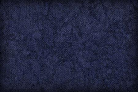 azul marino: Fotograf�a del artista Azul marino imprimado algod�n grueso lienzo Pato, blanqueado, moteado, vi�eta grunge textura. Foto de archivo