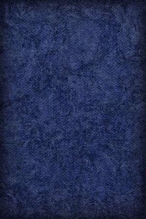 blue navy: Fotograf�a del artista Azul marino imprimado algod�n grueso lienzo Pato, blanqueado, moteado, vi�eta grunge textura. Foto de archivo