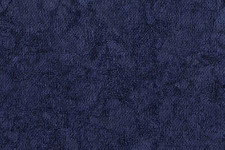 azul marino: Fotograf�a del artista Azul marino imprimado algod�n grueso lienzo Pato, blanqueado, moteado, la textura del grunge.